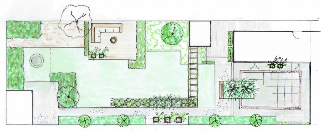 Versteegden achtertuin ontwerp